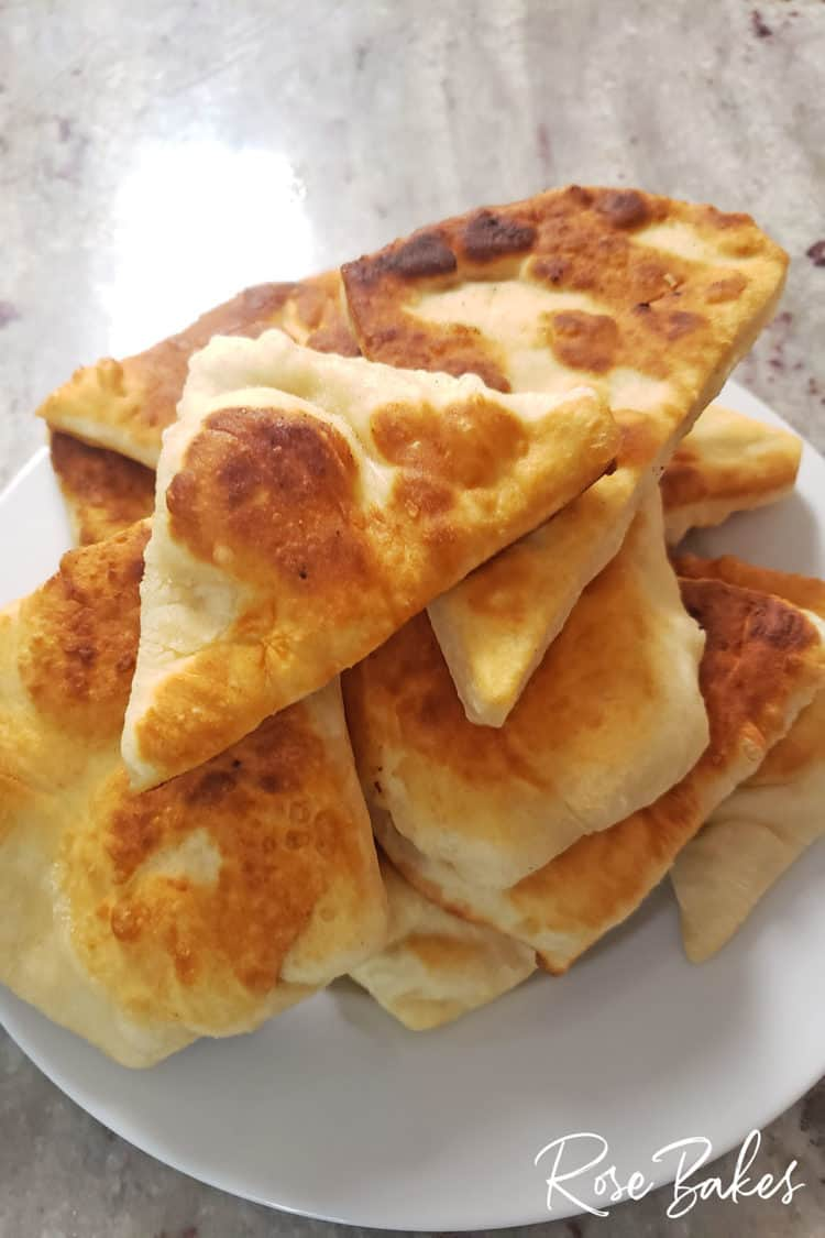 plate of indian fry bread