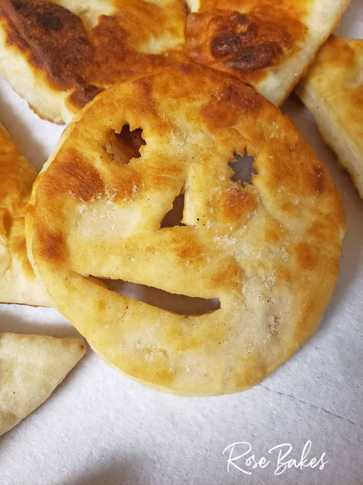 smiley face indian fry bread made by my 9 year old