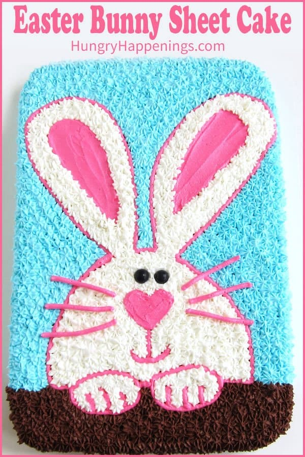 Easter Bunny Sheet Cake