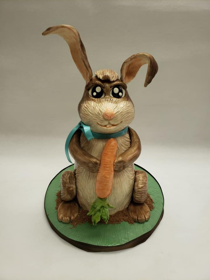 Carved Easter Bunny Cake