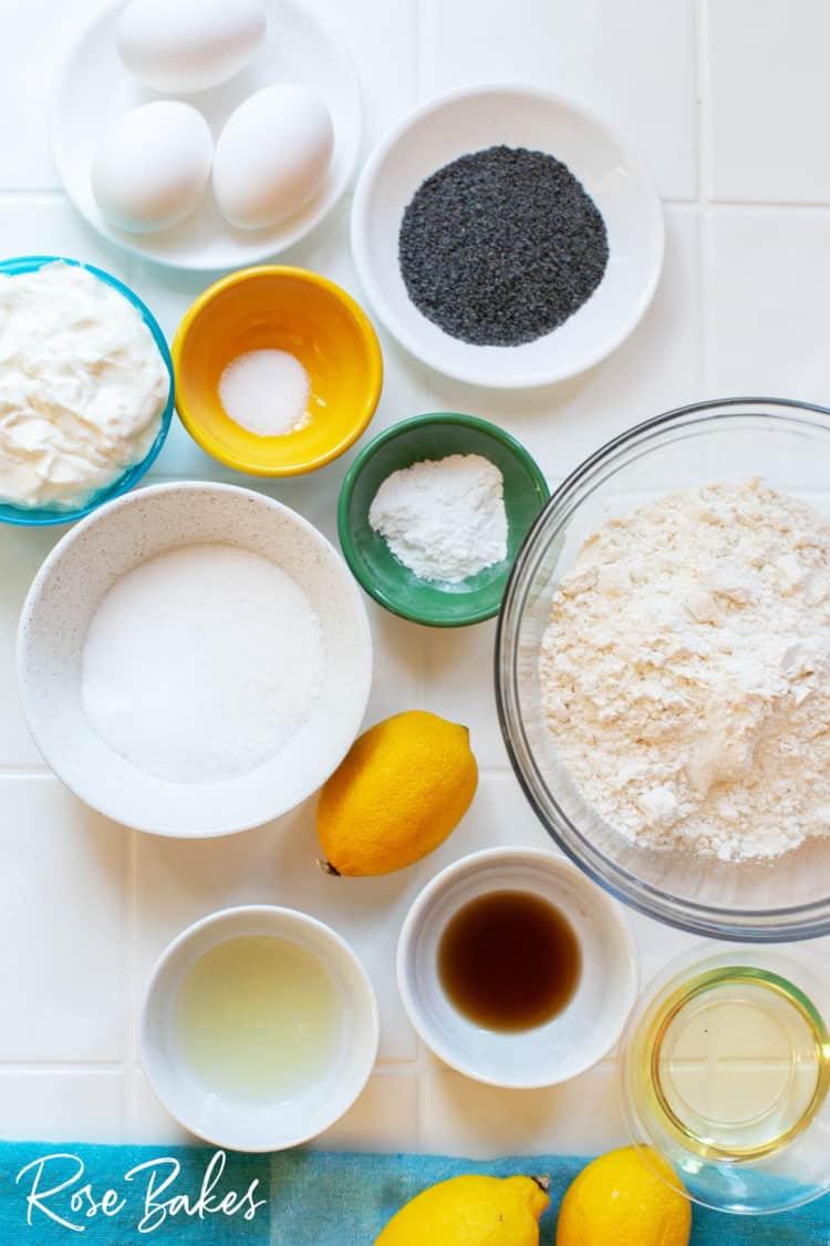Lemon Poppyseed Loaf dry ingredients