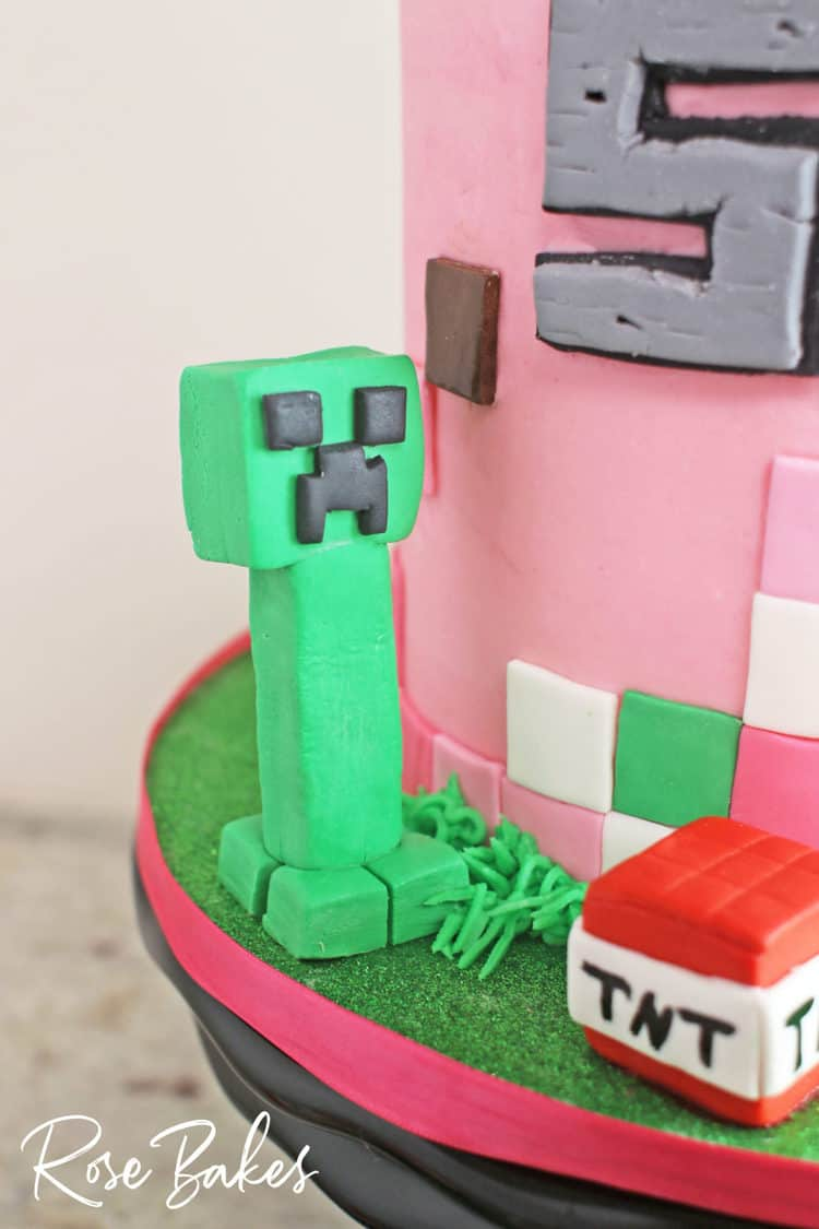 Miraculous A Pink Minecraft Birthday Cake For A Girl Rose Bakes Personalised Birthday Cards Paralily Jamesorg
