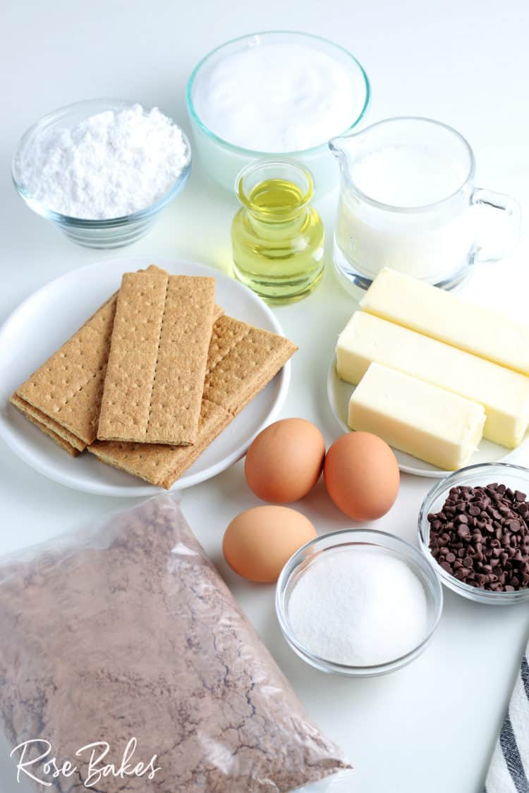 S'mores Cupcakes ingredients