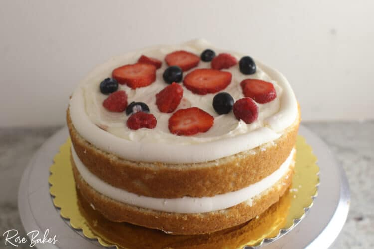fresh fruit added to the filling