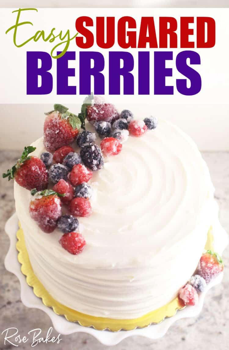 Chantilly Cake topped with sugared berries