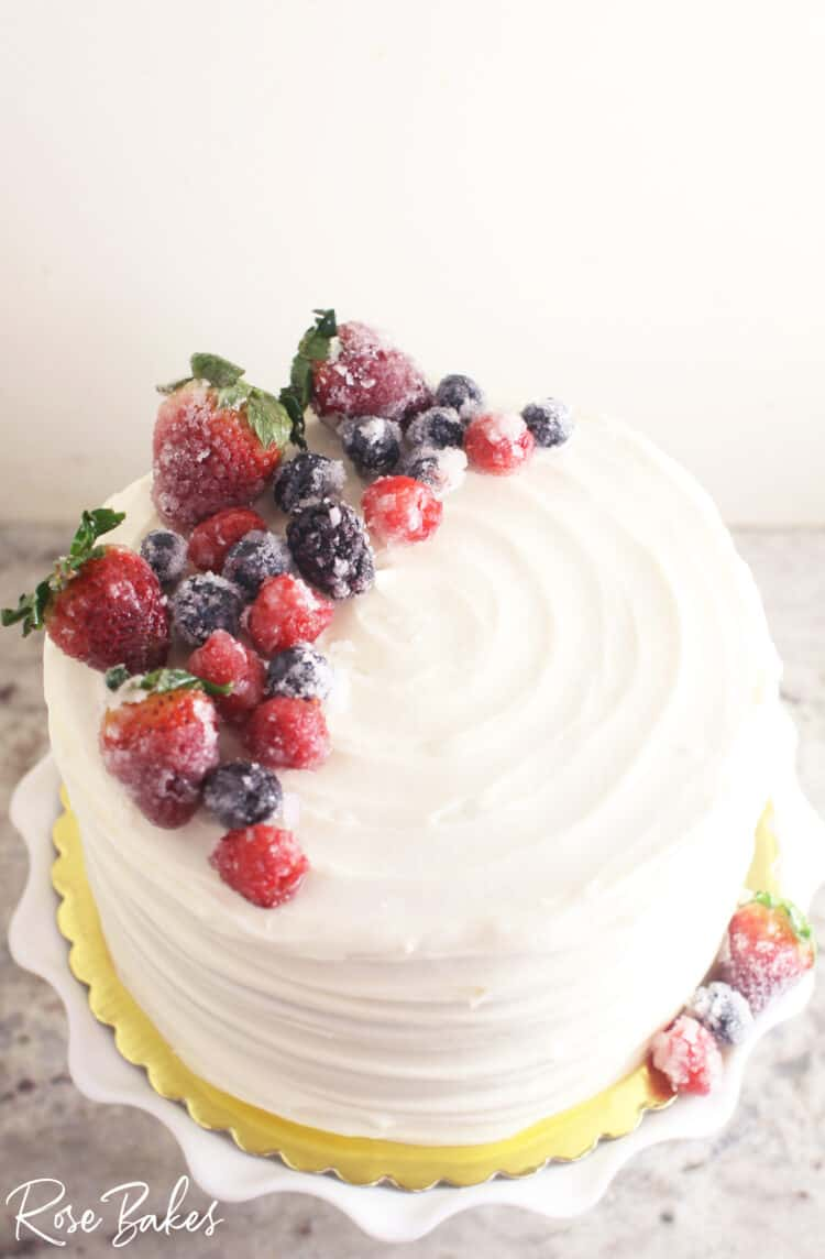 Chantilly Cake with Sugared Berries